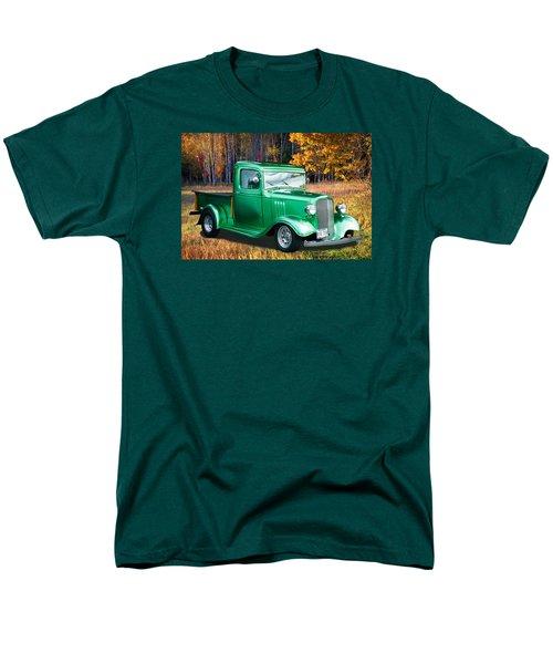 Men's T-Shirt  (Regular Fit) featuring the digital art 1934 Chev Pickup by Richard Farrington