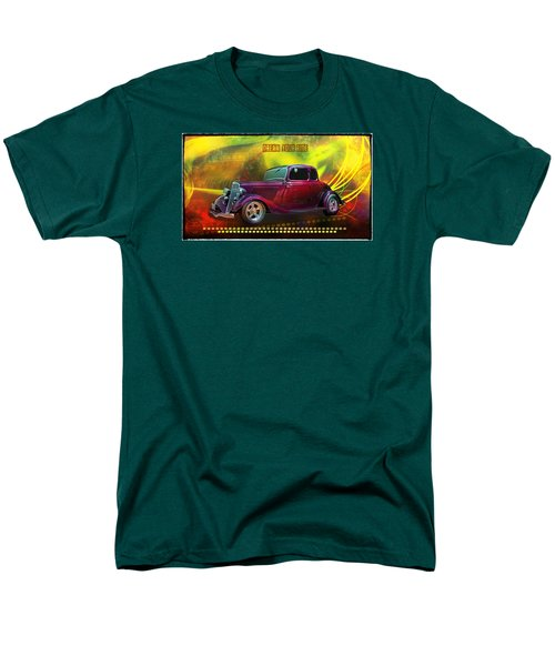 Men's T-Shirt  (Regular Fit) featuring the digital art 1934 Ford 5 Window Gennie by Richard Farrington