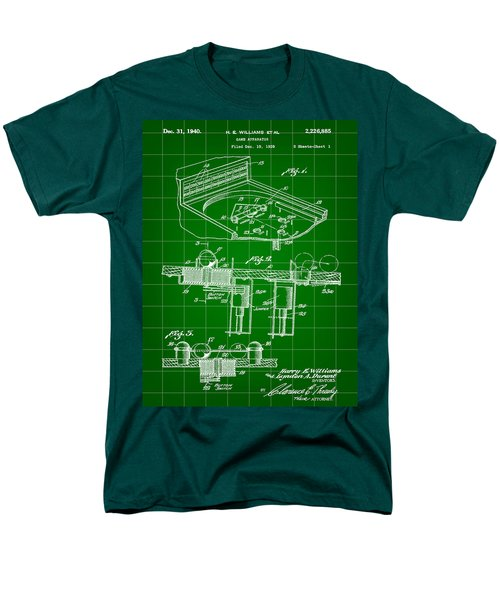 Pinball Machine Patent 1939 - Green Men's T-Shirt  (Regular Fit) by Stephen Younts