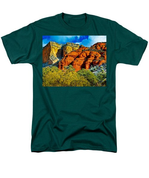 Men's T-Shirt  (Regular Fit) featuring the photograph Sedona Arizona - Wilderness Area by Bob and Nadine Johnston