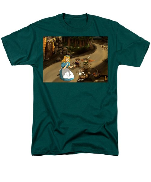 Men's T-Shirt  (Regular Fit) featuring the painting Tammy Meets Cedric The Mongoose by Reynold Jay