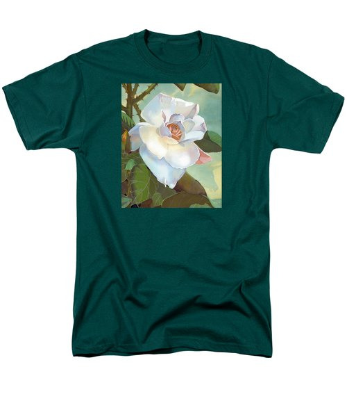 Men's T-Shirt  (Regular Fit) featuring the mixed media Unicorn In The Garden by J L Meadows