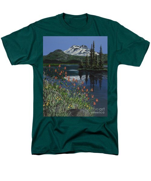 A Peaceful Place Men's T-Shirt  (Regular Fit) by Jennifer Lake
