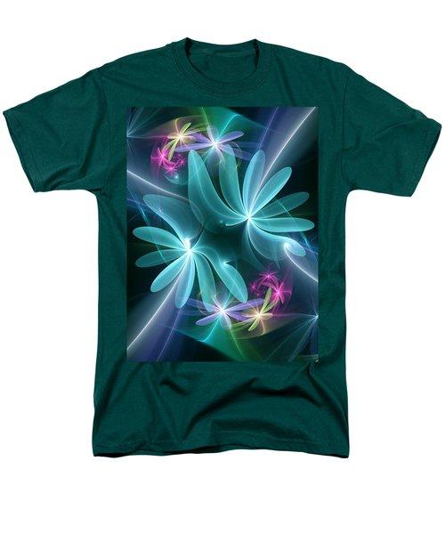 Men's T-Shirt  (Regular Fit) featuring the digital art Ethereal Flowers by Svetlana Nikolova