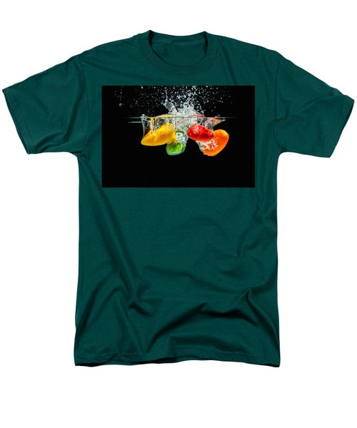 Splashing Paprika Men's T-Shirt  (Regular Fit) by Peter Lakomy