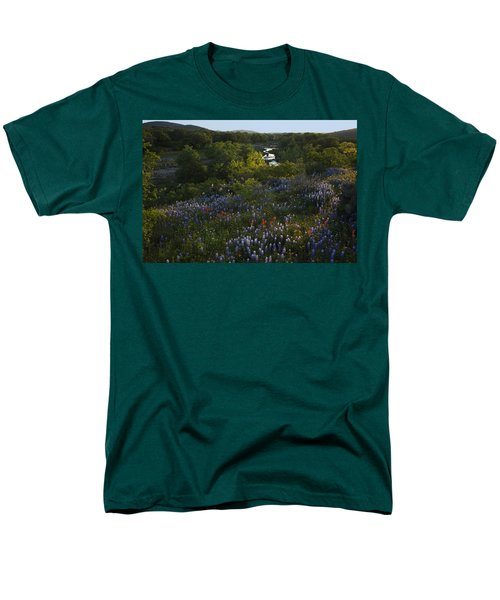 A Creek In Llano County  Men's T-Shirt  (Regular Fit) by Susan Rovira