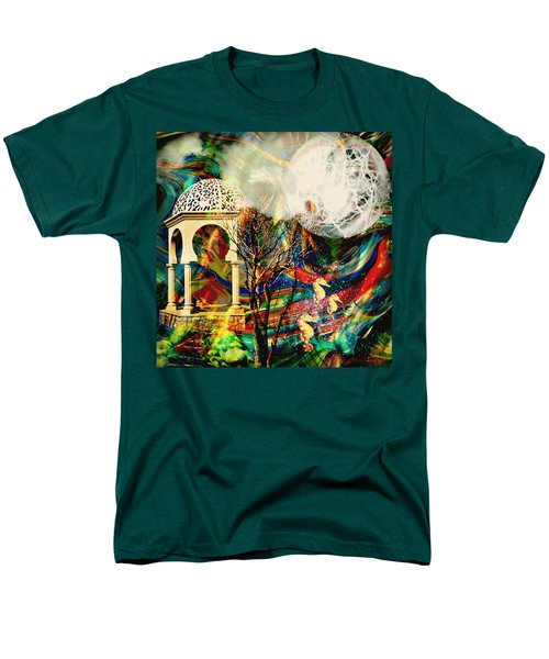 Men's T-Shirt  (Regular Fit) featuring the mixed media A Day In The Park by Ally  White