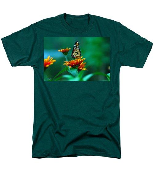 Men's T-Shirt  (Regular Fit) featuring the photograph A Monarch by Raymond Salani III