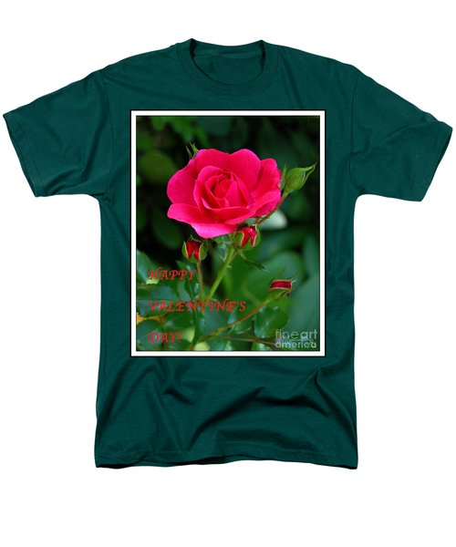 A Rose For Valentine's Day Men's T-Shirt  (Regular Fit) by Mariarosa Rockefeller