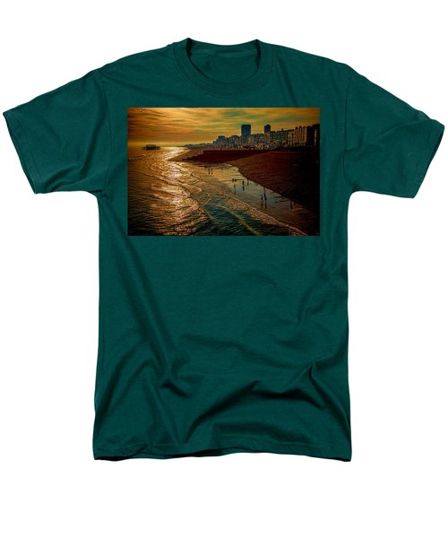 Men's T-Shirt  (Regular Fit) featuring the photograph A September Evening In Brighton by Chris Lord