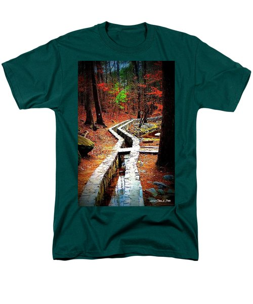 Men's T-Shirt  (Regular Fit) featuring the photograph A Walk Through The Woods by Tara Potts