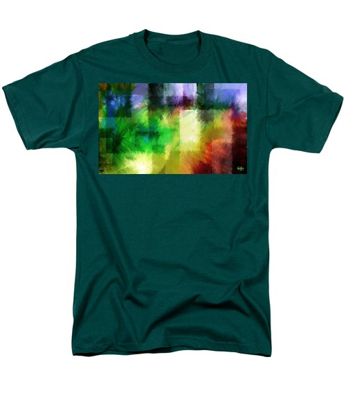 Men's T-Shirt  (Regular Fit) featuring the painting Abstract In Primary by Curtiss Shaffer
