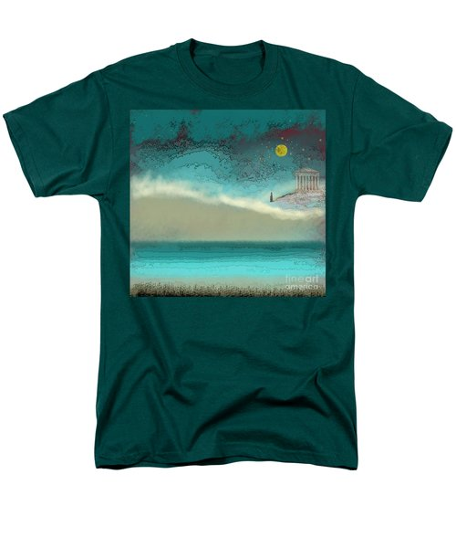 Acropolis In Moonlight Men's T-Shirt  (Regular Fit) by Carol Jacobs