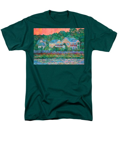 Men's T-Shirt  (Regular Fit) featuring the painting Across The Marsh At Pawleys Island       by Kendall Kessler