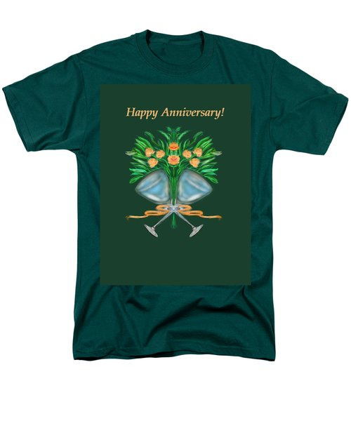Men's T-Shirt  (Regular Fit) featuring the digital art Anniversary Bouquet by Christine Fournier