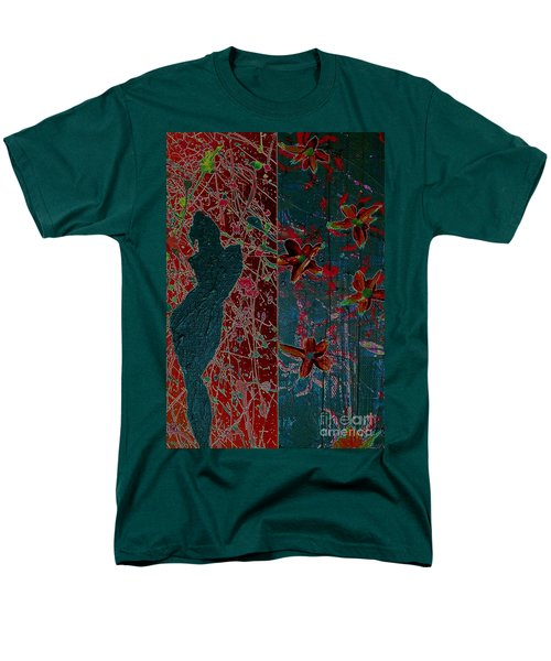 Men's T-Shirt  (Regular Fit) featuring the painting April Showers/ May Flowers by Jacqueline McReynolds