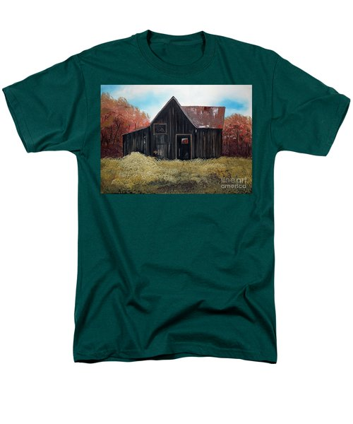Autumn - Barn -orange Men's T-Shirt  (Regular Fit) by Jan Dappen