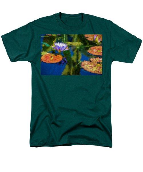 Autumn Lily Pad Impressions Men's T-Shirt  (Regular Fit) by Georgia Mizuleva