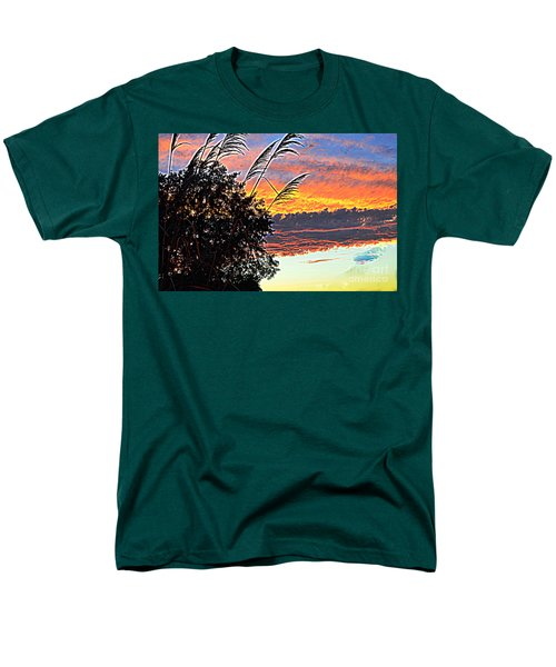Autumn Sunset Men's T-Shirt  (Regular Fit) by Luther Fine Art