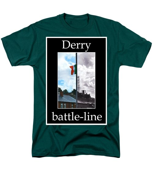 Men's T-Shirt  (Regular Fit) featuring the photograph Battleline by Nina Ficur Feenan