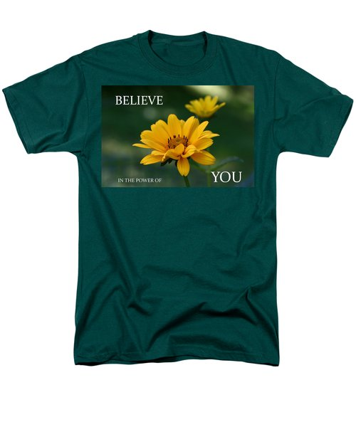Believe Men's T-Shirt  (Regular Fit) by Denyse Duhaime