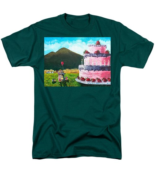 Big Birthday Surprise Men's T-Shirt  (Regular Fit) by Shana Rowe Jackson