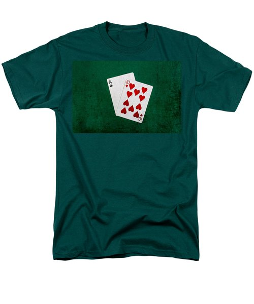 Blackjack Twenty One 1 Men's T-Shirt  (Regular Fit) by Alexander Senin