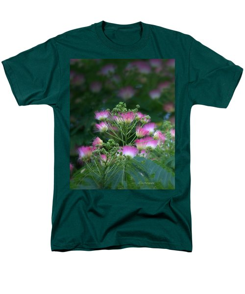 Blooms Of The Mimosa Tree Men's T-Shirt  (Regular Fit) by Jeanette C Landstrom