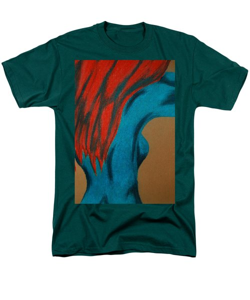 Blue Lady Men's T-Shirt  (Regular Fit) by Angela Murray