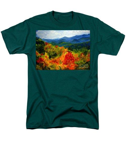 Blue Ridge Mountains In Fall Men's T-Shirt  (Regular Fit) by Julie Brugh Riffey