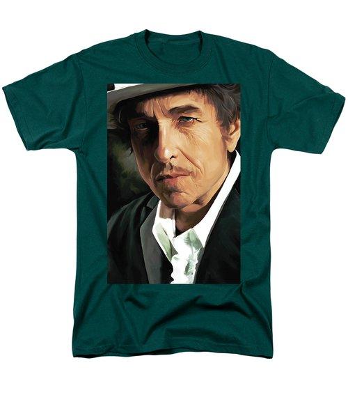 Bob Dylan Artwork Men's T-Shirt  (Regular Fit) by Sheraz A