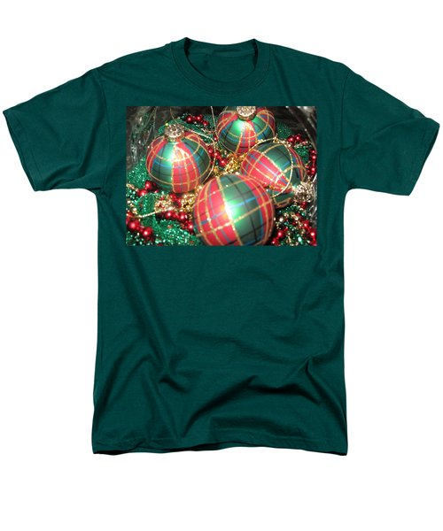 Men's T-Shirt  (Regular Fit) featuring the photograph Bowl Of Christmas Colors by Barbara McDevitt