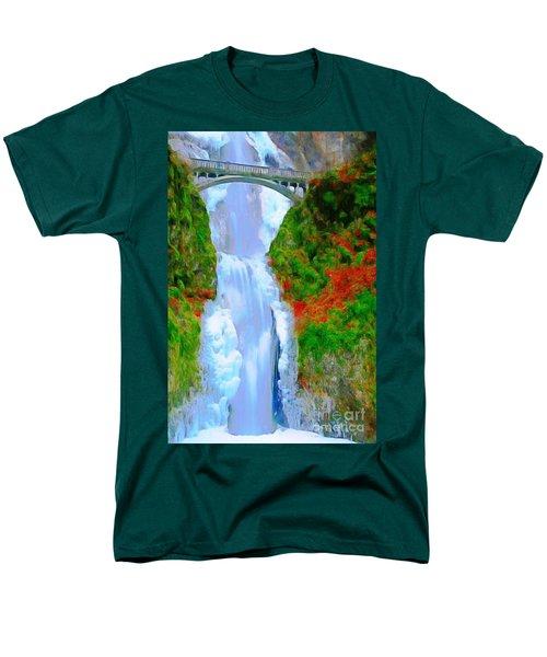Bridge Over Beautiful Water Men's T-Shirt  (Regular Fit) by Catherine Lott