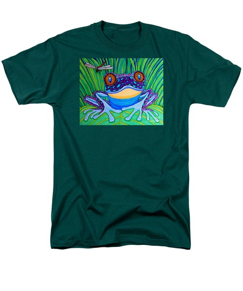 Bright Eyed Frog Men's T-Shirt  (Regular Fit) by Nick Gustafson