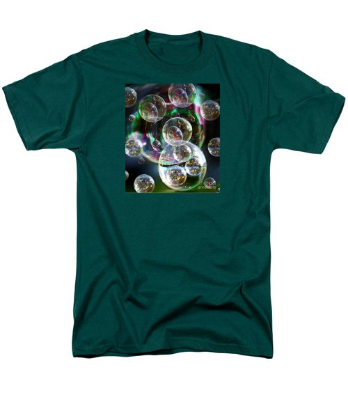 Bubbles And More Bubbles Men's T-Shirt  (Regular Fit) by Nareeta Martin