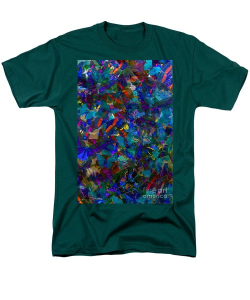 Men's T-Shirt  (Regular Fit) featuring the photograph Butterfly Collage Blue by Robert Meanor