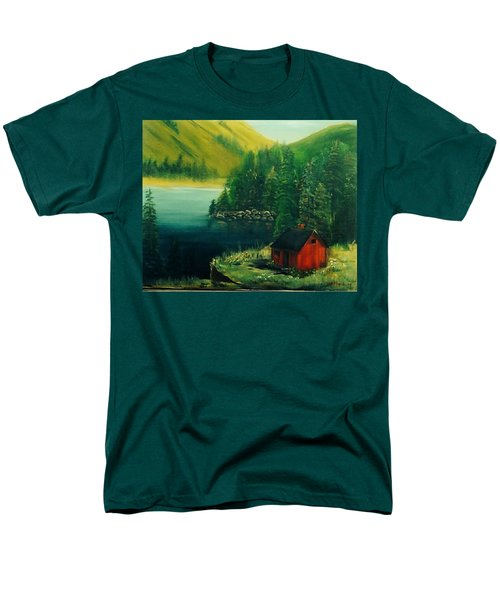Cabin In The Catskills Men's T-Shirt  (Regular Fit) by Catherine Swerediuk