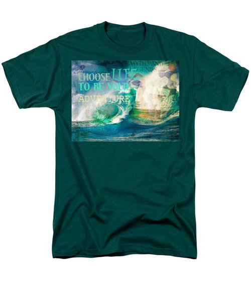 Men's T-Shirt  (Regular Fit) featuring the photograph Choose Life To Be Your Adventure by Toni Hopper