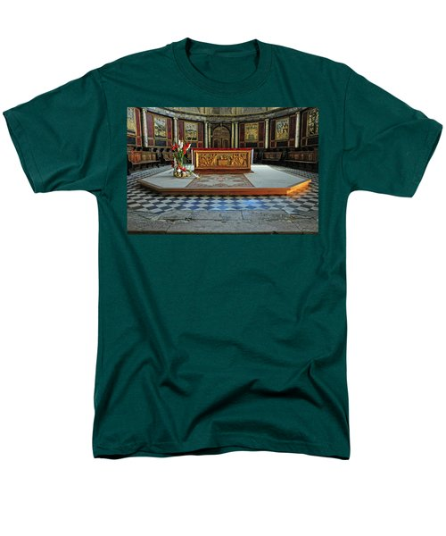 Men's T-Shirt  (Regular Fit) featuring the photograph Church Alter Provence France by Dave Mills