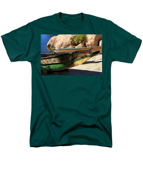 Men's T-Shirt  (Regular Fit) featuring the photograph Colorul Canoe by Chris Thomas