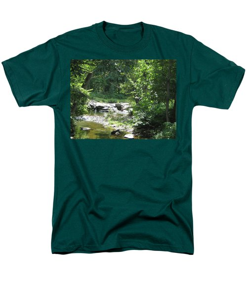 Men's T-Shirt  (Regular Fit) featuring the photograph Cool Waters II by Ellen Levinson