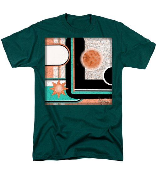Men's T-Shirt  (Regular Fit) featuring the painting Coral Moon by Carol Jacobs
