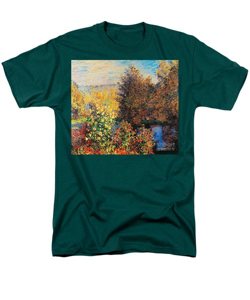 Corner Of Garden In Montgeron Men's T-Shirt  (Regular Fit) by Claude Monet