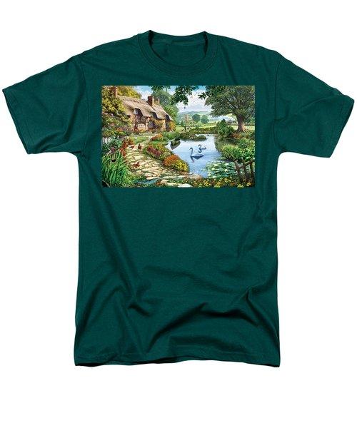 Cottage By The Lake Men's T-Shirt  (Regular Fit) by Steve Crisp
