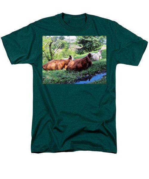 Men's T-Shirt  (Regular Fit) featuring the photograph Cow 6 by Dawn Eshelman