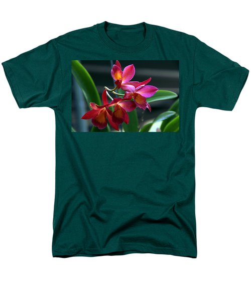 Men's T-Shirt  (Regular Fit) featuring the photograph Ctna New River Orchid by Greg Allore