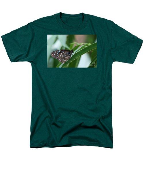Dark Blue Tiger Butterfly #2 Men's T-Shirt  (Regular Fit) by Judy Whitton