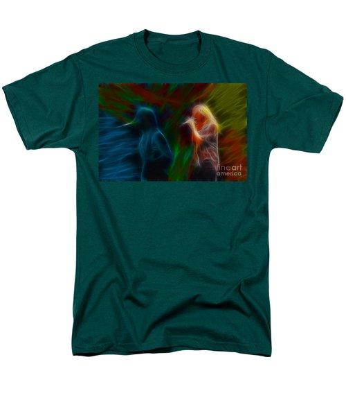 Def Leppard-adrenalize-jor-gb20--fractal Men's T-Shirt  (Regular Fit) by Gary Gingrich Galleries