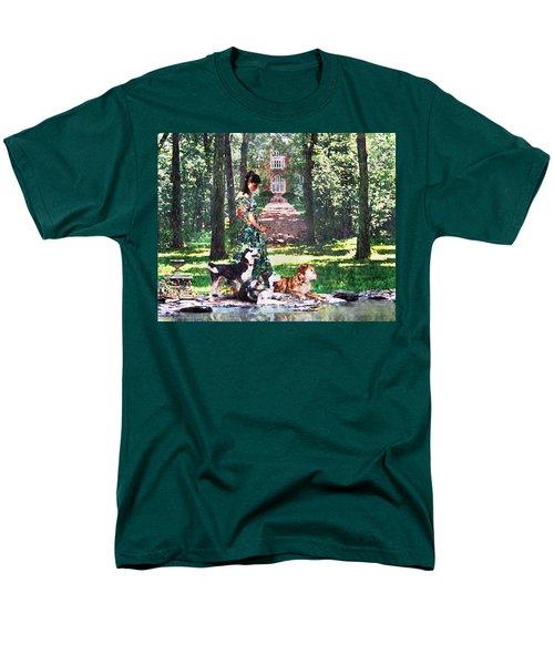 Dogs Lay At Her Feet Men's T-Shirt  (Regular Fit) by Steve Karol