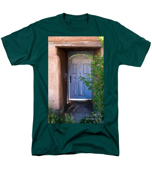 Men's T-Shirt  (Regular Fit) featuring the photograph Doors Of Santa Fe by Roselynne Broussard